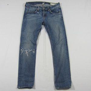 Women's Rag & Bone Mid Wash Skinny Slim Jeans 26